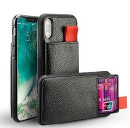 Carteiras escondidas on-line-Cyberstore Para iPhone X 7 Carteira Caixa à prova de choque de couro do cartão de crédito Titular Invisível TPU RFID bloqueio para iphone 8 6 Plus tampa de bolso