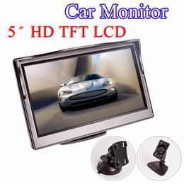 """câmera reversa bmw Desconto 5 Polegada Monitor Do Carro TFT LCD 5 """"HD Digital 16: 9 800 * 480 Tela 2 Way Entrada De Vídeo Para Câmera de Visão Traseira Reversa DVD VCD"""