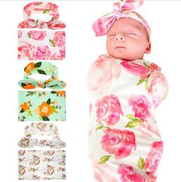 bambino del vestito di sonno Sconti Vendita calda neonata fasce per capelli orecchie di coniglio vestito stampato Sleeping Wrapped Coperte e fasce vestito cotone infantile Coperta Involucro di stoffa