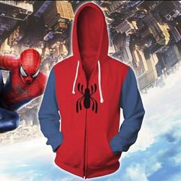 fantasia de princesa de princesa amarela Desconto Os Vingadores de Ferro Spider Jacket Spiderman Jaquetas Homens Outwear Fresco Streetwear Zíper Com Capuz Casaco Mens S-5XL 2 estilos