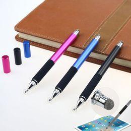 2019 penna capacitiva dello stilo del metallo Penna a sfera touchscreen capacitiva 2 in 1 in tessuto micro-fibra di maglia per iPhone Samsung iPad Tablet Novità
