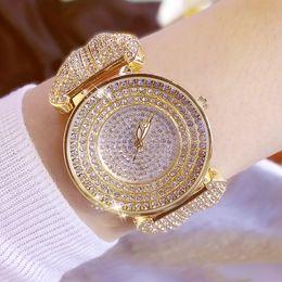 relojes de cristal completo de las mujeres Rebajas Relojes de mujer de lujo Crystal Full Rhinestone watch Popular Dress Watch Fashion Diamond Wristwatches pulsera relojes wach lady
