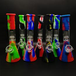 Argentina kits de bong de silicona diseño de vaso tubos de agua para fumar de silicona cachimba de silicona filtro de cachimba irrompible filtro de vidrio bong dar rig Suministro