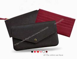 Фирменная сумка Pochette 3 шт. Комплект Цепная сумка из натуральной кожи Сумка Felicie Mini сумка через плечо Держатель карты сцепления с Box 61276 от Поставщики обувь показывает