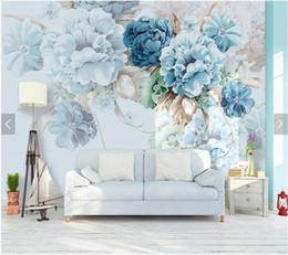 papel de parede floral do quarto Desconto Personalizado papel de parede floral simples peônia murais para sala de estar quarto sofá TV fundo da parede papel de parede decorativo