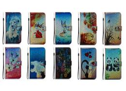 iphone 5s casos bling mariposa Rebajas Funda billetera de cuero para Iphone 11 Nuevo 2019 XS MAX XR 8 7 6 5S Bling Colorful Tiger Lion Butterfly Panda Animal ID Lover Holder Flip Cover