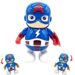 2019 regalo di ferro di ferro The Avengers Action Figure Capitan America Doll Iron Man Dance Robot Musica Regali per bambini 15 5mx F1 regalo di ferro di ferro economici