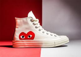 Kawakubo Rei PLAY Comme des Garcons X 091649CóNVERSE Chuck Taylor Scarpe ALL-STAR 1970S scarpe da tennis di tela 35-44 da