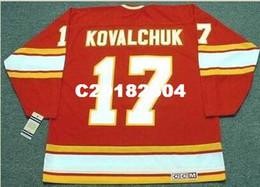 4c772c7ab Mens  17 ILYA KOVALCHUK Atlanta Flames 1970 s CCM Vintage RETRO Home Hockey  Jersey or custom any name or number retro Jersey