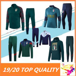 Sportswear italia on-line-2019 2020 ITALY BELOTTI fato de treino jaqueta de futebol 19 20 Verratti Bonucci ZANINLO JORGINHO futebol survêtement sportswear agasalho
