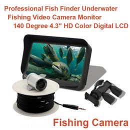 "Cámara de grabación de video original online-Original 4.3 ""Fish Finder HD 1000TVL Cámara de pesca submarina Grabación de video DVR IR LED Parabrisas 150 grados Ángulo"