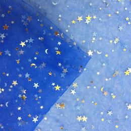 tecido para vestidos Desconto 1 piece Brilhante Estrela Malha Tecido De Tule Belo Vestido de Noiva Roupas de Decoração Material DIY Mantilla Suprimentos De Costura Pano Rosa