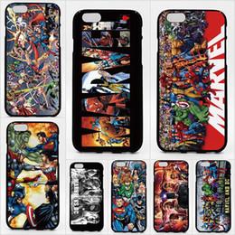 Para iPhone 11 Pro XR XS XS Max X 5 5S 6S 6 7 8 Plus caso de impresión de patrones DC Marvel Super Hero casos de teléfonos de alta calidad desde fabricantes