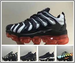 zapatos de niñas niños talla 28 Rebajas nike TN plus vapormax air max airmax 2018 TN Running Shoes para niños niñas niños Negro Rojo Blanco TN Ultra KPU Cushion Surface Niños zapatillas de deporte Zapatillas de entrenamiento tamaño 28-35