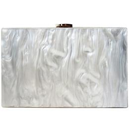 FGGS-Fashion Lady Messenger Bag Élégant Acrylique Pochette Sac Soirée Pure Soirée Épaule Blanche ? partir de fabricateur