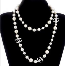 2019 estilo 2 camadas colar de pérolas camisolas colares designer senhora livre número de perfume 5 mulheres neckless colar longo collares de Fornecedores de piscando colar estrela por atacado