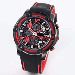 Corsa rossa di vigilanza online-Sport NEW Racing cruscotto design orologi 1853 orologio Red nero due toni montre de luxe Orologi da polso movimento al quarzo T mens watch T207417