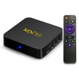 радиотелефон Скидка MX10 Android 9.0 TV BOX RK3328 4 ГБ DDR4 32 ГБ QuadCore Rockchip Smart BOX Поддержка 4K H.265 Потоковый медиаплеер