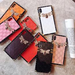 Modelos de cajas móviles online-Venta al por mayor al por menor de lujo cajas del teléfono del diseñador para el iphone X XR XS MAX 8 6S 7 6 plus caja del teléfono móvil cordón femenino modelos PU cuero DHL