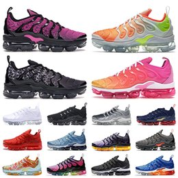 scarpe da corsa nere per i bambini Sconti nike air vapormax plus tn plus 2019 Scarpe da corsa Bianco Triple Black Sunset Grape In USA Red Rainbow Silver Uomo Donna Sport kids designer sneakers