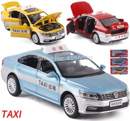 Auto in metallo online-Regali del giocattolo del ragazzo del modello dell'automobile del taxi del metallo di Die-cast