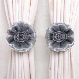 Gelbe krawattenrücken online-Clip-On Flower Tie Backs / Holdbacks für Voile Net Curtain Panels Vorhänge für Wohnzimmer