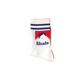 gold cup socken Rabatt Sportsocken Rhude Tide Marke Baumwolle Hip-Hop-Männer und Frauen Socken Größe 37-44 Freies Verschiffen