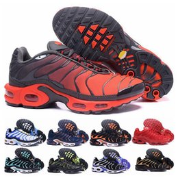 Großhandel 2018 Air Top Nike Air Max 97 TN Plus Outdoor Schuhe Damen Herren Schwarz Gelb Champagne Gold Sneakers Sneakers Chaussure TN Running Sports