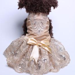 Farbige tutus online-Hund Katze Wedding Dress Tutu Prinzessin Haustier-Welpen-Kleider EmbroideryBow Kleidung Apperal 3 Farben Hund Cloth