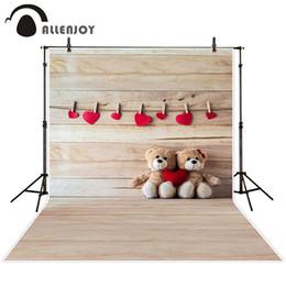 sfondo di tessuto di natale Sconti fondali ragazzo Allenjoy sfondo fotografico Amore fondali bordo orsetto ragazzo tessuto natalizio Staffa esclusa 8x8