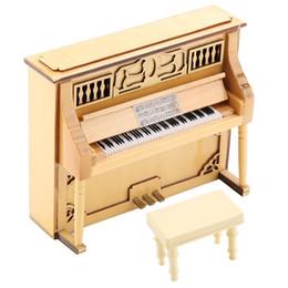 Piano de madera modelo de decoración creativa casa regalo decoración. desde fabricantes