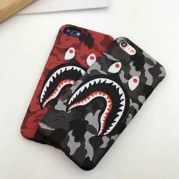 Étui iphone bouche en Ligne-Cas de téléphone 3D requin bande dessinée de camouflage requin bouche pour iphone x 7 x 6 x 6s max max iphone 8 7 6 6 s, plus dur cas de téléphone camouflage pc