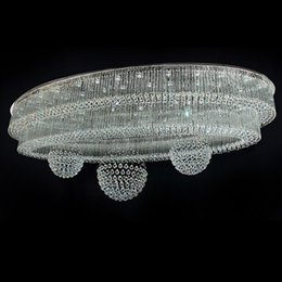 2019 cucine di cottage bianche plafoniere moderne del soffitto del grande candeliere di cristallo di alta qualità AC110V 220V lampadari del salone del LED del lustro LED