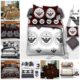 Juegos de cama de chocolate online-Juego de cama King Size de moda Queen Luxury Twin Doble Individual Doble Juego de funda Nórdica Decoración Moderna Juego de Cama con Funda de Almohada