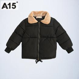 Ropa de niño talla 3t online-A15 2019 niños abrigos de invierno ropa para niños parques tamaño 4 6 8 chaquetas infantiles para niños grandes niños ropa de abrigo talla 3T 4T 6 8 10 años