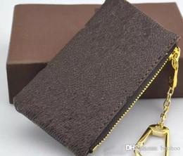 2019 borsa della moneta del totoro di totoro Portachiavi Hotsales Portafoglio per donna Portachiavi Charm Francia Famoso Mono Grammo tela Portachiavi a scacchi bianco marrone