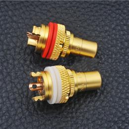 cobre rca plugs Desconto 8pcs Red + White RCA Female soquete Chassis de alta qualidade RCA CMC Feminino conector Phono cobre plug Amp HiFi