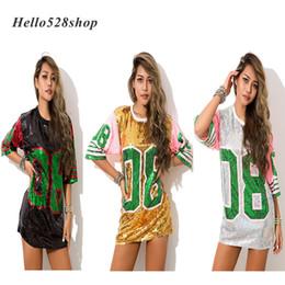 Argentina Hello528shop Fashion Pink 08 Hip Hop Dance Sequin Mini vestidos Rendimiento Disfraz Disfraz Escenario Camiseta larga Mujer Camisas cheap hip hop costumes Suministro