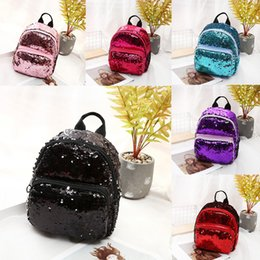 glitter body hot Coupons - 2019 Hot Mermaid Sequin Backpack Personality Glitter Small Backpacks Girls Fashion Shoulder Bags Women Outdoor Travel Bag 6 Colors M183F