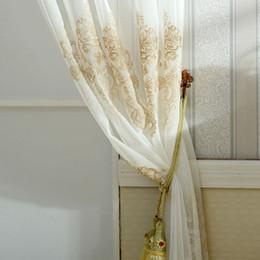 vorhang falten stile Rabatt Floral Türfenstervorhang drapieren Panel schiere Schal Home Room Volants Divider New2