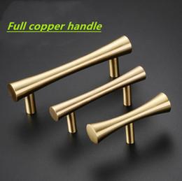 Nuevo chino mango de cobre puro estilo nórdico muebles de caoba armario armario puerta cobre mango sólido desde fabricantes