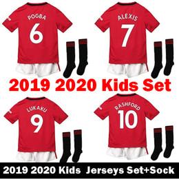150705c56d1 Thailand Kids 19 20 POGBA United RASHFOR manchester soccer jerseys 2019  2020 Camiseta LUKAKU man Alexis MATA maillots Football Shirts kits