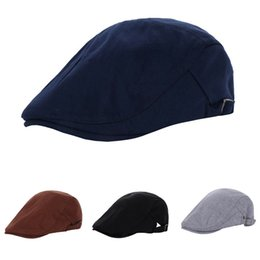 11cb40b8047b7 military berets 2019 - Monochrome Peaked Cap European Quinquagenarian Beret  Concise Leisure Time Forward Hat Foreign
