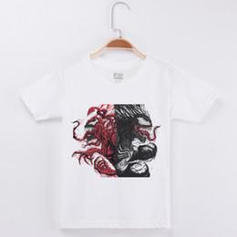 chemises à manches courtes garçon Promotion 2019 Nouveautés Marque Tshirt Garçons Tshirt Enfants T-shirt À Manches Demi Coton De Mode Populaire Tops Venom Imprimé Enfant T-shirt De Base