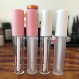 Белая косметическая упаковка онлайн-Розовая крышка для губ блеск для губ 3 мл Белая крышка для губ блеск для губ Пустая блеск для губ Упаковка из матового пластика для губ Косметика 50шт