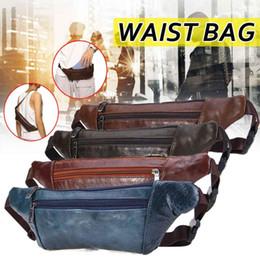 2019 saco de couro do quadril da cintura dos homens Bolsa de cintura mulheres homens unisex couro multifuncionais Chest Casual Bolsas Pacote Ladies Leather Chest Banana Bag Mens Hip Hip Bum Bags saco de couro do quadril da cintura dos homens barato