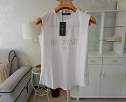 """El nuevo París del sur de 2018, de la suelta recopilación de la letra """"logotipo popular"""" con camiseta sin mangas, camiseta femenina y chaleco de algodón. desde fabricantes"""