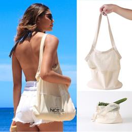 Malla de algodón de ultramarinos bolsa de compras reutilizable de la fruta bolsas de verduras frescas Bolsas comprador del bolso del totalizador lavable Inicio bolsa de almacenamiento desde fabricantes
