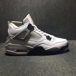 Argentina Air 4 White Cement 840606-192 4s IV Kicks Mujeres Hombres Zapatos deportivos de baloncesto Zapatillas de deporte de buena calidad con caja original Suministro