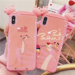 carteira de telefone rosa Desconto 2019 top 2019 top 2019 rosa bonito pantera telefone case para iphone x 6 6 s 7 8 plus para iphone xs max capa